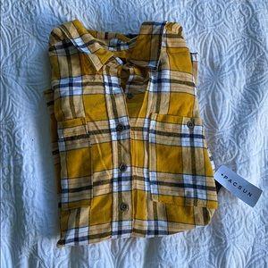 Yellow plaid flannel